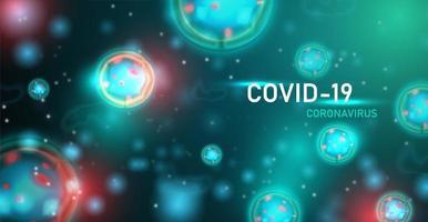 cartaz de infecção de coronavírus verde vetor