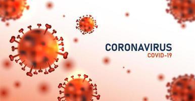 cartaz de infecção de coronavírus vermelho vetor
