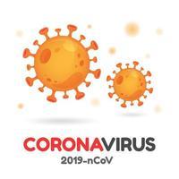 conjunto de ícones de molécula de vírus corona vetor