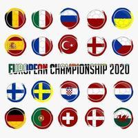 bandeiras nacionais do conjunto da europa vetor