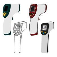 termômetro da testa vetor