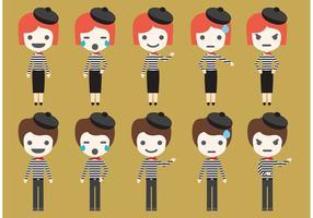 Personagens do vetor Mime