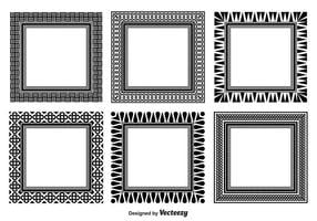 Conjunto de moldura decorativa variada vetor