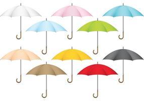 Guarda-chuvas de vetores coloridos