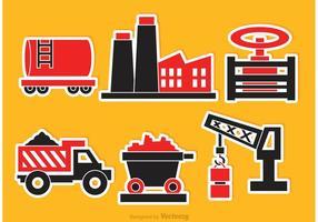 Ícones de vetores industriais