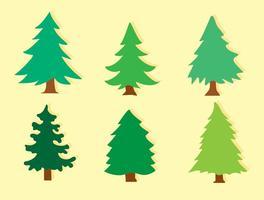 Vetores de árvores de cedro plano