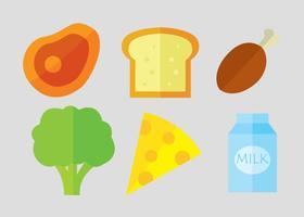 Ícones do vetor de alimentos