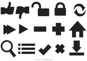 Vectores de ícones da Web vetor