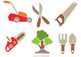 Ícones de vetor de ferramentas de jardim
