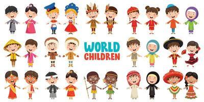 personagens multiculturais do mundo vetor