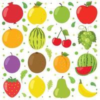 frutas frescas para uma alimentação saudável vetor