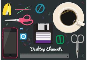 Elementos do vetor de desktop grátis