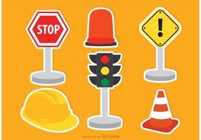 Ícones de tráfego vetorial vetor