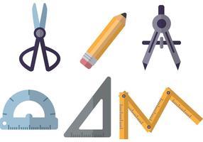 Vetores de ferramentas de arquitetura plana