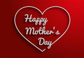 Vetor livre do texto do dia das mães