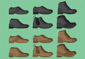 Vetores de sapato do homem