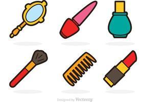 Ícones de vetores cosméticos