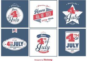 Feliz 4 de julho emblemas vetor