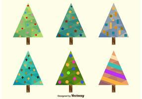 Árvores de Natal poligonais vetor