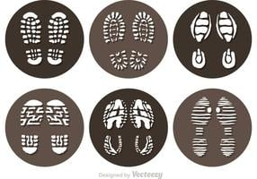 Ícones Muddy Footprint da Vector