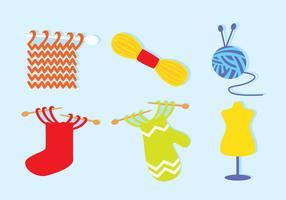 Ícones de tricô vetor
