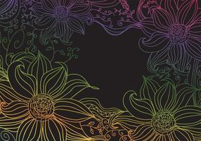 Flores boho vetor