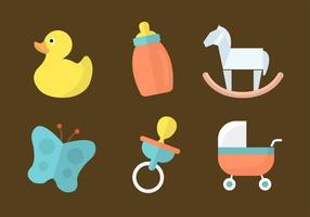 Brinquedos de bebê vetoriais livres vetor
