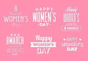 Vetores do emblema do dia da mulher