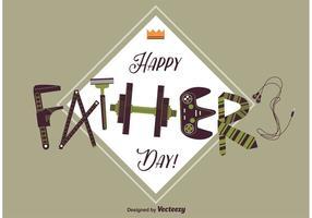 Cartão feliz do dia dos pais vetor