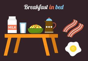 Pequeno-almoço em elementos vetoriais de cama vetor