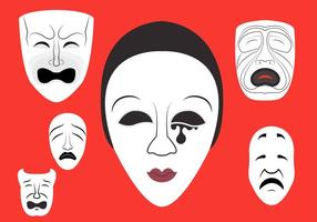 Ilustração vetorial de Máscaras de teatro vetor