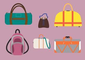 Ilustração de vários vetores de saco
