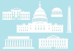 Edifícios da capital dos EUA. vetor