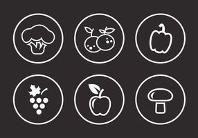 Frutas e vegetais vetor