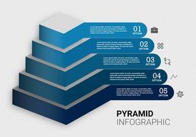Vetor de gráfico de pirâmide grátis