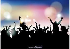 Fundo da multidão de festas vetor