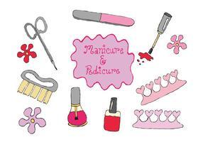 Série livre de vetores de pedicure de manicure