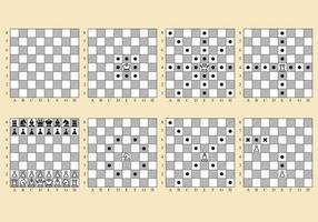 Movimentos de xadrez vetorial vetor