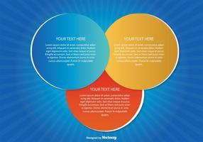 Ilustração moderna de círculos de texto vetor