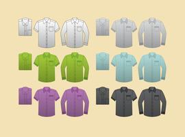 Camisas em branco do vetor
