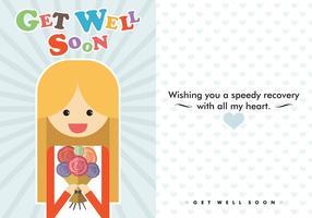 Get Well Soon Card Vector grátis
