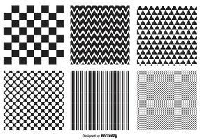 Conjunto de padrões geométricos vetor