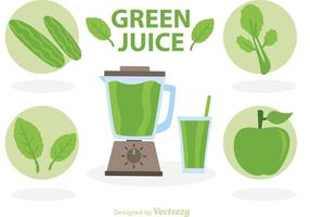 Vetores de suco verde