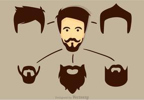 Vetor cara legal com barba