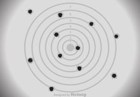 Target Paper Rifle Target vetor