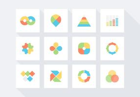 Jogo grátis de ícones de vetores infográficos