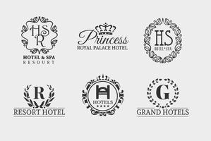 Conjunto de Logoes de Hotéis de Hotéis Grátis vetor