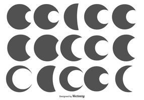 Formas variadas de círculo / lua vetor