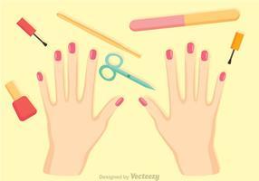 Vector de procedimento de manicure