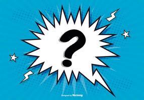 Contexto Comic Question Mark vetor